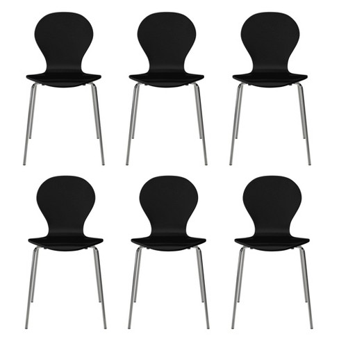 Set Of 6 Saladin Mid Century Modern Armless Dining Chairs Handy Living Target