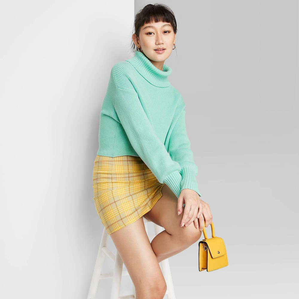 Promos Woen's Turtleneck Cropped Pullover Sweater - Wild Fable™