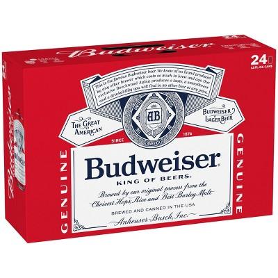 Budweiser Red Crown Tab Beer - 24pk/12 fl oz Cans