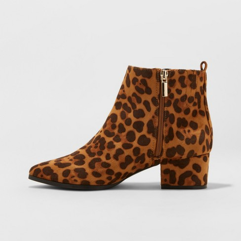 a461cd1a2ff2 Women's Valerie Microsude Leopard Print City Ankle Fashion Boots - A New  Day™ 9