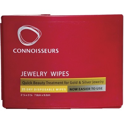 Connoisseurs Jewelry Wipe Compact 25 Wipes - Red