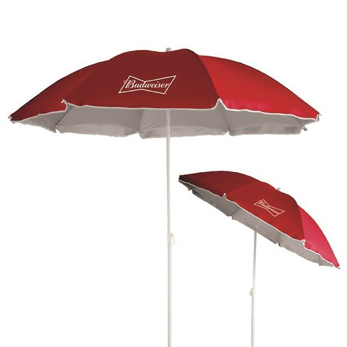 Anheuser-Busch 6' Beach Umbrella with UV Protection - Red - image 1 of 1