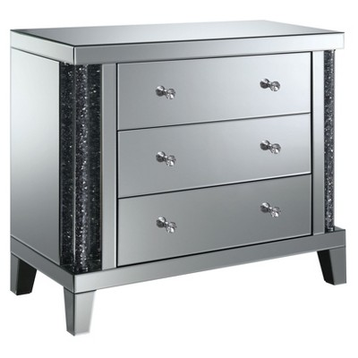 Carter 3 Drawer Side Table Silver - HOMES: Inside + Out