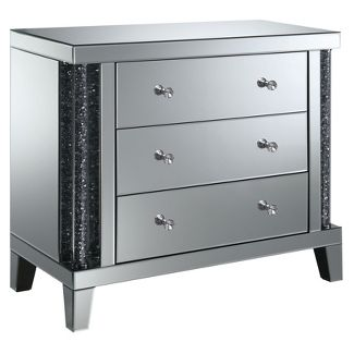 Carter 3 Drawer Side Table Silver - ioHOMES