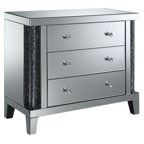 Carter 3 Drawer Side Table Silver - ioHOMES - image 1 of 3