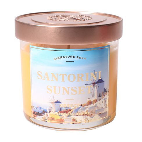 Small Glass Jar Candle Santorini Sunset 4.1oz - Signature Soy - image 1 of 1