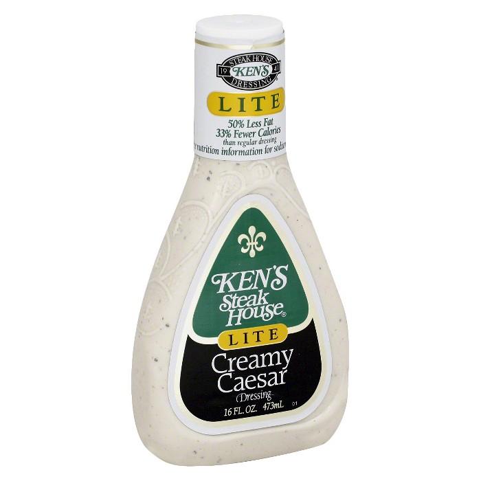 Ken's Steak House® Lite Creamy Caesar Salad Dressing - 16 fl oz - image 1 of 1