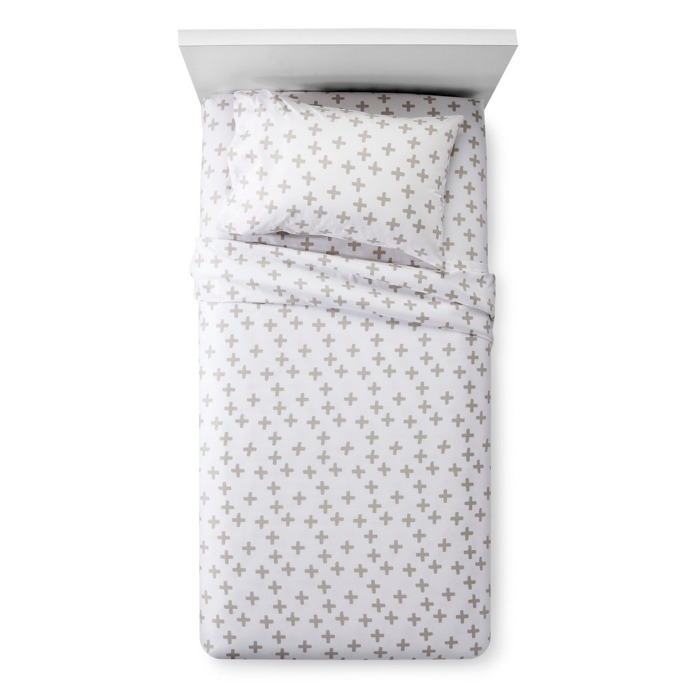 Plus Sign Sheet Set (Queen) Gray - Pillowfort