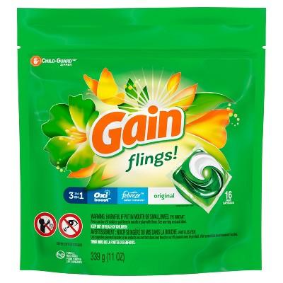 Gain flings! Laundry Detergent Pacs Original