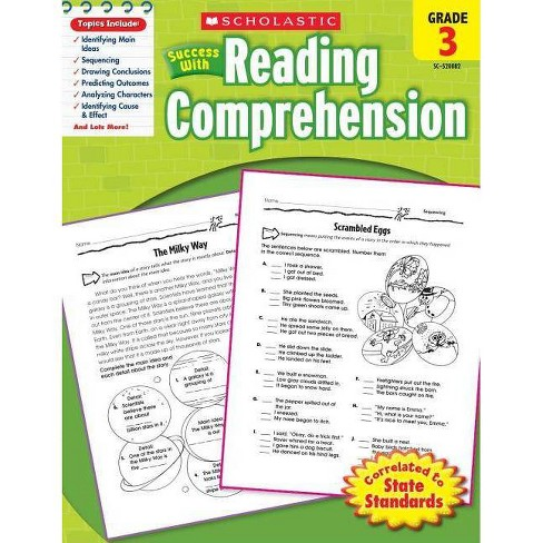 Scholastic Success with Reading Comprehension, Grade 3 - (Paperback) - image 1 of 1