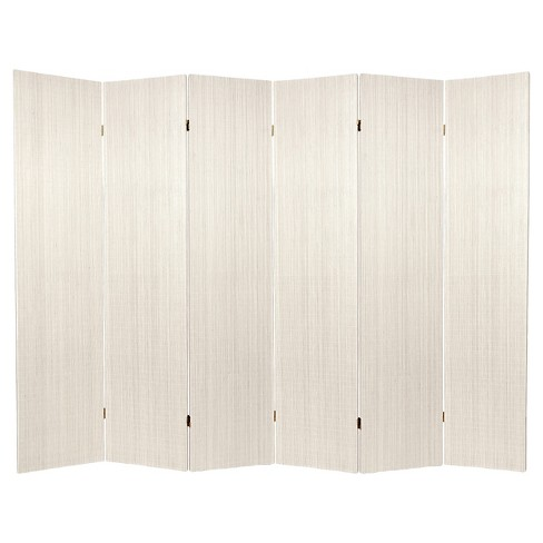 6 ft. Tall Frameless Bamboo Room Divider - White (6 Panels) - image 1 of 1