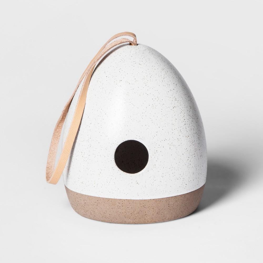 Stoneware Birdhouse - White - Smith & Hawken