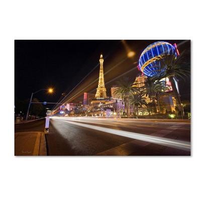 "22"" x 32"" Las Vegas Blvd. by David Ayash - Trademark Fine Art"