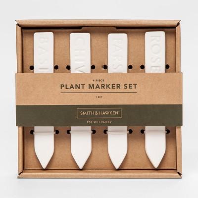 Plant Marker Set White 4pc - Smith & Hawken™