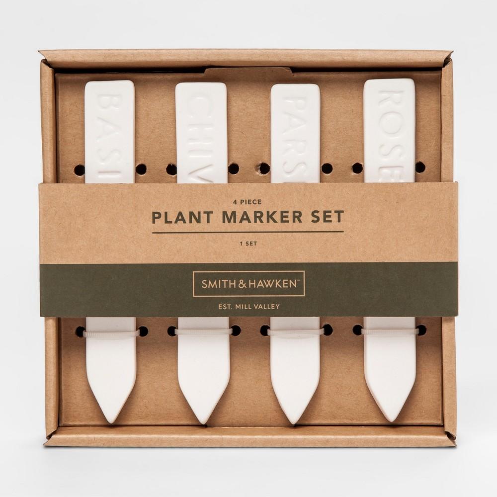 Plant Marker Set White 4pc - Smith & Hawken