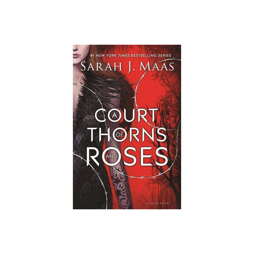 A Court of Thorns and Roses ( A Court of Thorns and Roses) (Hardcover) by Sarah J. Maas  Dragged to a treacherous magical land she only knows about from stories, Feyre discovers that her captor is not an animal, but Tamlin, a High Lord of the faeries. As her feelings toward him transform from hostility to a firey passion, the threats against the faerie lands grow. Feyre must fight to break an ancient curse, or she will lose Tamlin forever -- Gender: unisex.