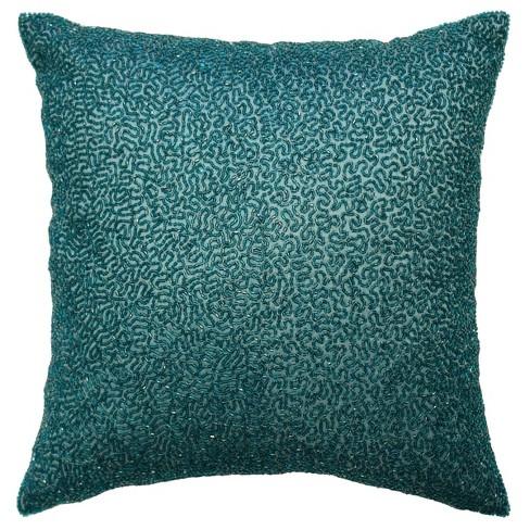 Teal Alexina Beaded Throw Pillow - Beautyrest - image 1 of 2