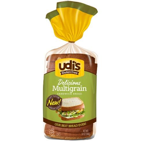 Udi's Gluten Free Whole Grain Frozen Bread - 12oz : Target