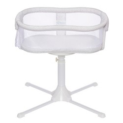 Halo Bassinest Swivel Sleeper Bassinet Essentia Series Modern Lattice - Beige