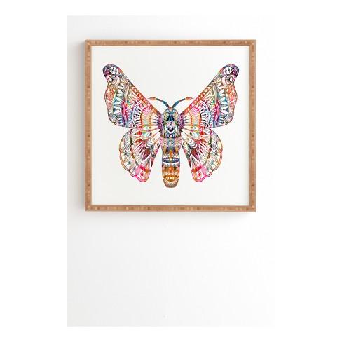 "Stephanie Corfee Artsy Moth Framed Wall Art 12"" x 12"" - Deny Designs - image 1 of 1"