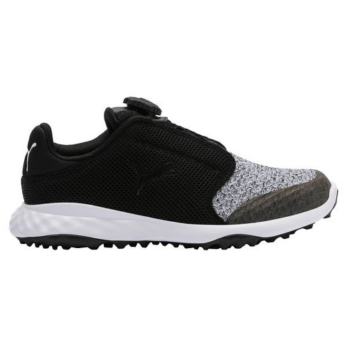 445b47f44e4e9 Boys' Puma Junior Grip Fusion Sport Disc Spikeless Golf Shoes Black/Quarry