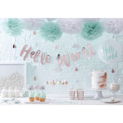 Table Confetti,Rose Gold Confetti Hello World Baby Shower Table Confetti Rose Gold Confetti Table Decorations Hello World Confetti