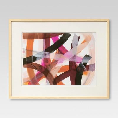 Framed Strokes Abstract 28 x 22 - Threshold™