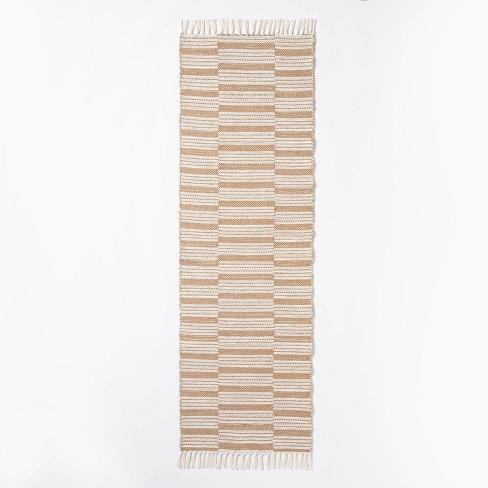 Rossmoor Indoor/Outdoor Plaid Scatter Rug Tan - Threshold™ designed with Studio McGee - image 1 of 4