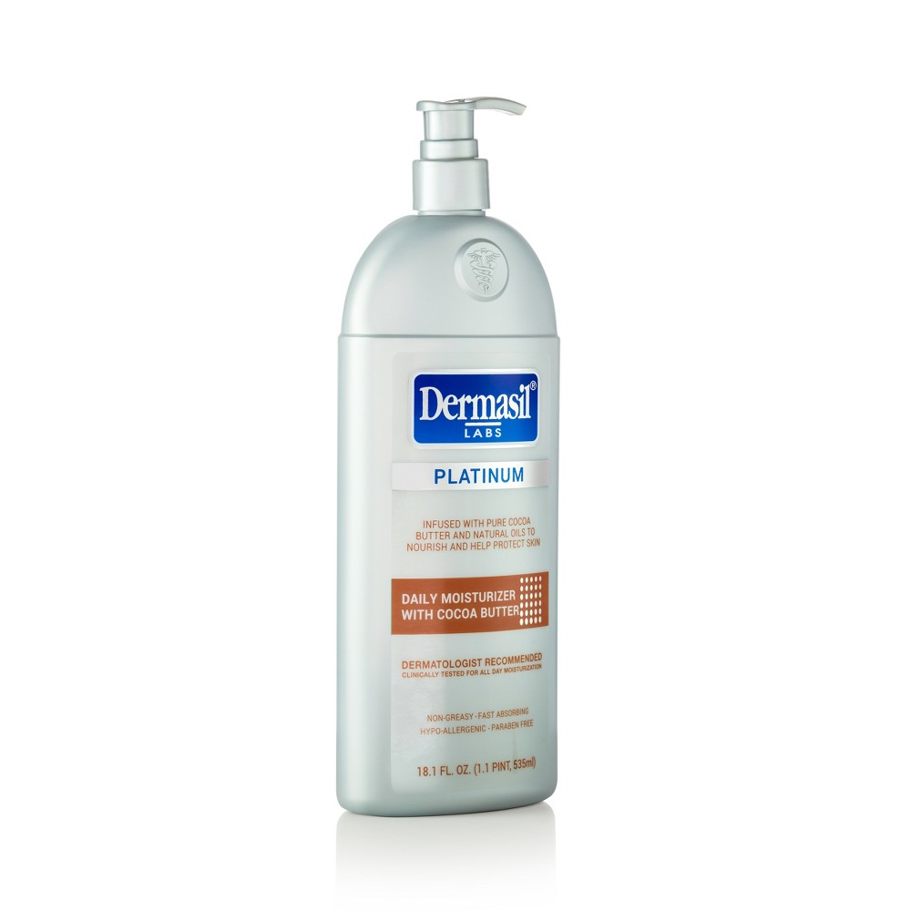 Image of Dermasil Platinum Cocoa Butter All Day Moisturizing Body Lotion - 18.1 fl oz