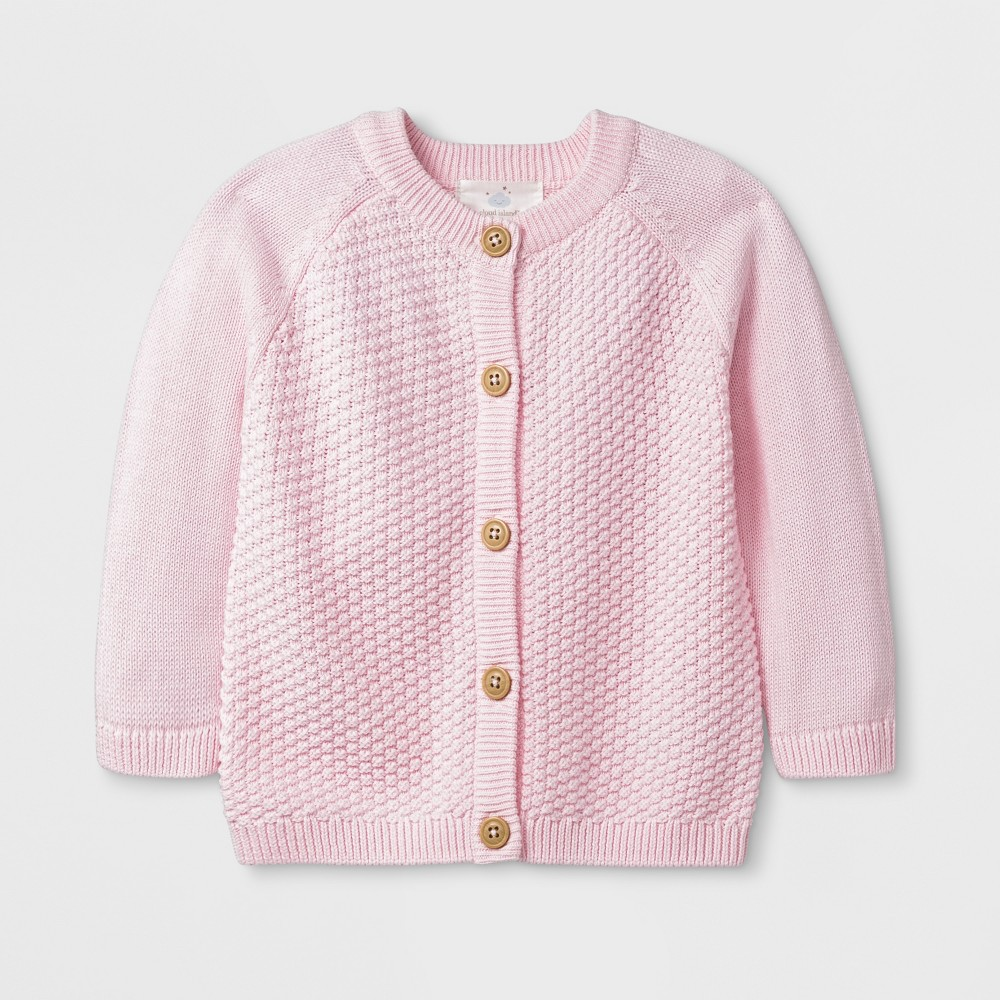 Baby Girls' Solid Sweater - Cloud Island Pink 0-3M