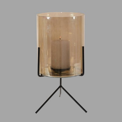20  Glass Outdoor Lantern Black Stand - Project 62™