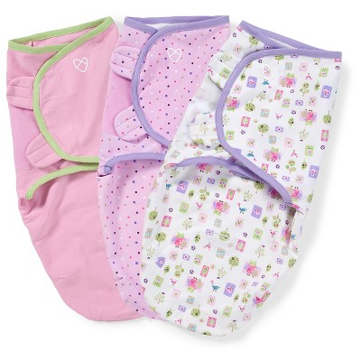 SwaddleMe Original Swaddle 0-3M - 3pk Who Loves You S