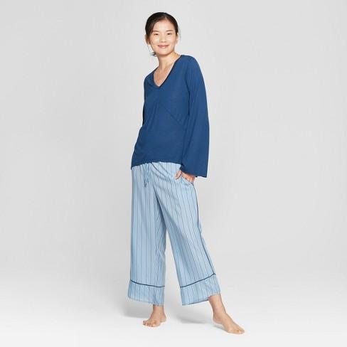 f6fea23e097b Women s Striped Pajama Set - Gilligan   O Malley™ Blue S   Target