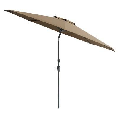 7' Wind Resistant Tilting Patio Umbrella - Brown - CorLiving
