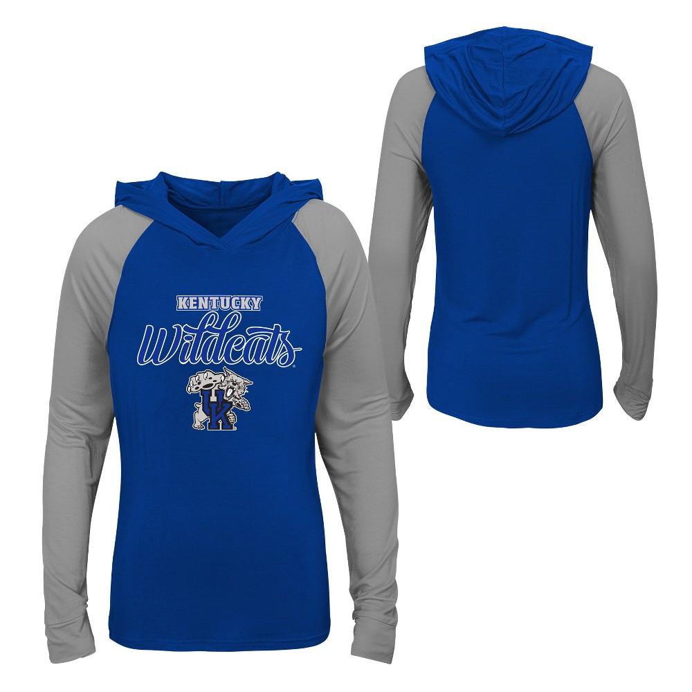 Kentucky Wildcats Girls' Long Sleeve Lightweight Hoodie - XL, Multicolored