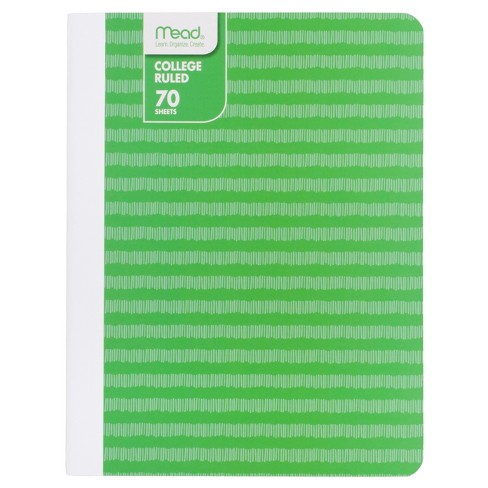 mead composition notebook college ruled striped target