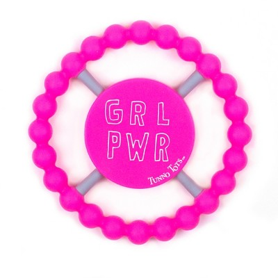 Tunno Tots Girl Power Teether - Pink
