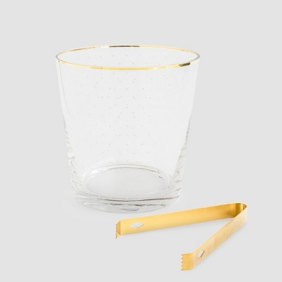 Glass with White Dot Ice Bucket - Sugar Paper™