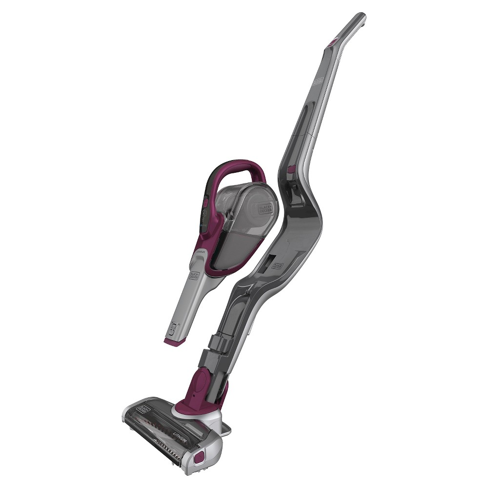 Image of BLACK+DECKER 20V MAX Lithium Stick Vacuum with SMARTECH - Eggplant HSVJ520JMBF27, Purple