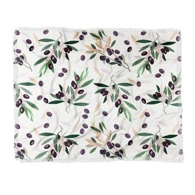 "60""X50"" Iveta Abolina Olivia Sprig Throw Blanket Green - Deny Designs"