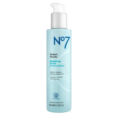 No7 Radiant Results Revitalising Micellar Cleansing Water - 6.7oz - image 1 of 3