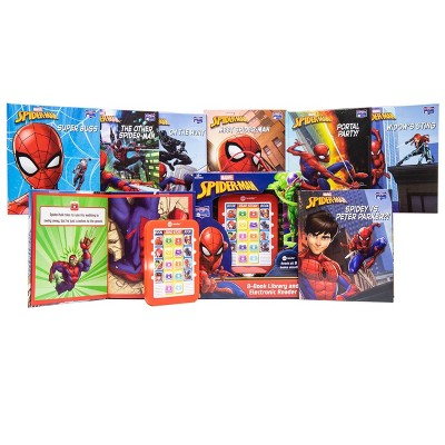 Pi Kids Marvel Spider-Man Electronic Me Reader and 8-Book Library Boxed Set