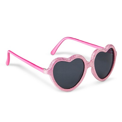 Girls' Heart Shaped Sunglasses - image 1 of 1