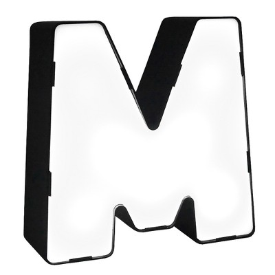 LED Neon Letter - M Novelty Table Lamp Brass - Room Essentials™