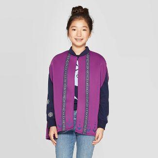 Girls' Frozen Anna Cape - Purple XS/S