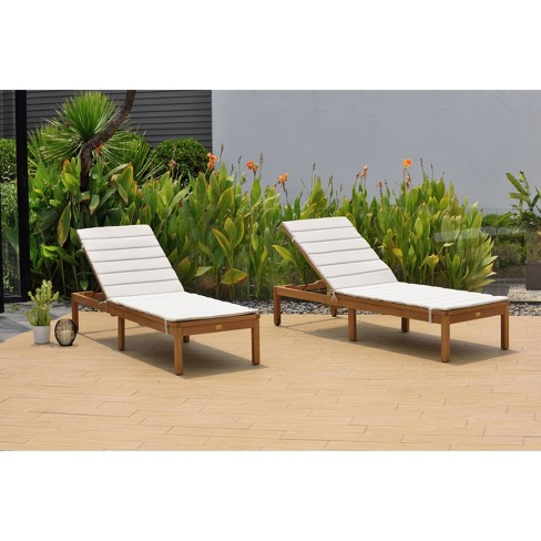 Lisa 2pk Patio Chaise Loungers Set - Gray - Amazonia - image 1 of 4