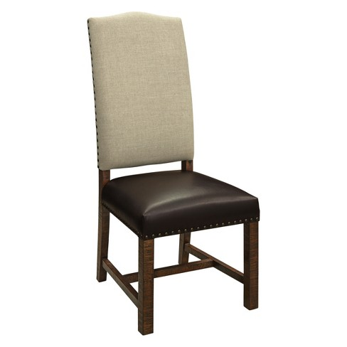 Christopher Knight Home Set of 2 Lindon High Back Dining Chairs Oatmeal/Brown - image 1 of 4