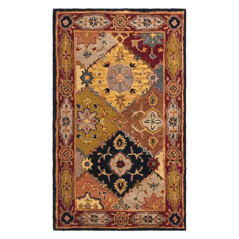 11'X15' Floral Area Rug Red - Safavieh, Multi-Colored/Red