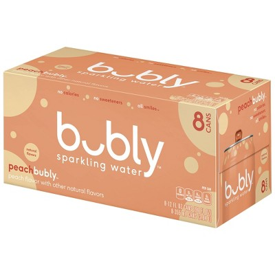 bubly Peach Sparkling Water - 8pk/12 fl oz Cans
