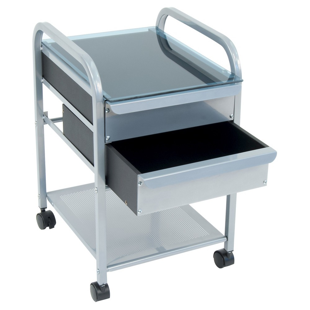 Vertical Filing Cabinet - Light Silver - Studio Designs